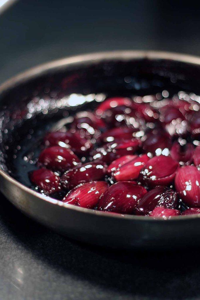 Leckere Rotweinschalotten