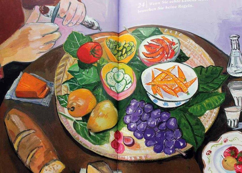 Maira Kalman-Illustration: Wenn Sie echte Lebensmittel essen, brauchen Sie keine Regel.
