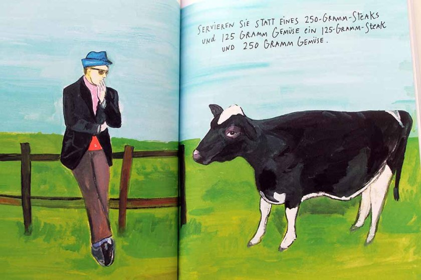 Maria Kalman-Illustration: Behandeln Sie Fleisch als geschmacksbereichernde Zutat für besondere Gelegenheiten.