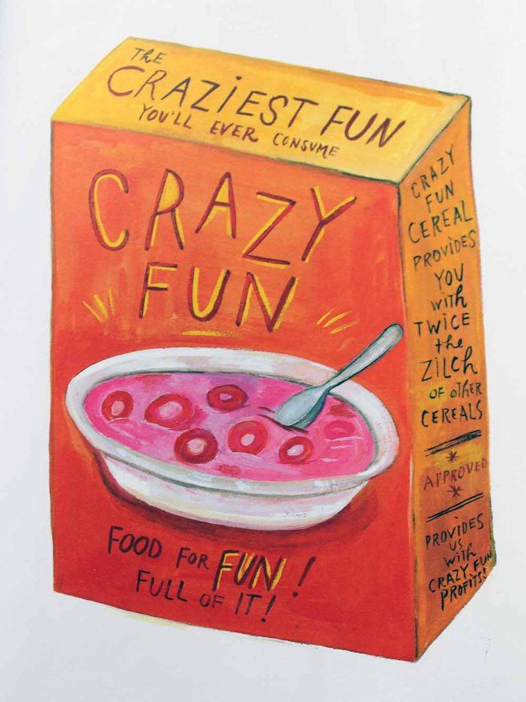 Maira Kalman-Illustration: Essen Sie kein Müsli, das die Farbe der Milch verän.dert