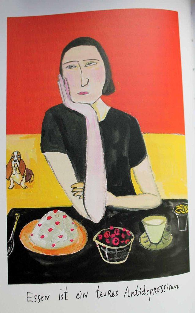 Maira Kalmann-Illustration: Essen Sie, wenn Sie Hunger haben, nicht, wenn Sie sich langweilen.