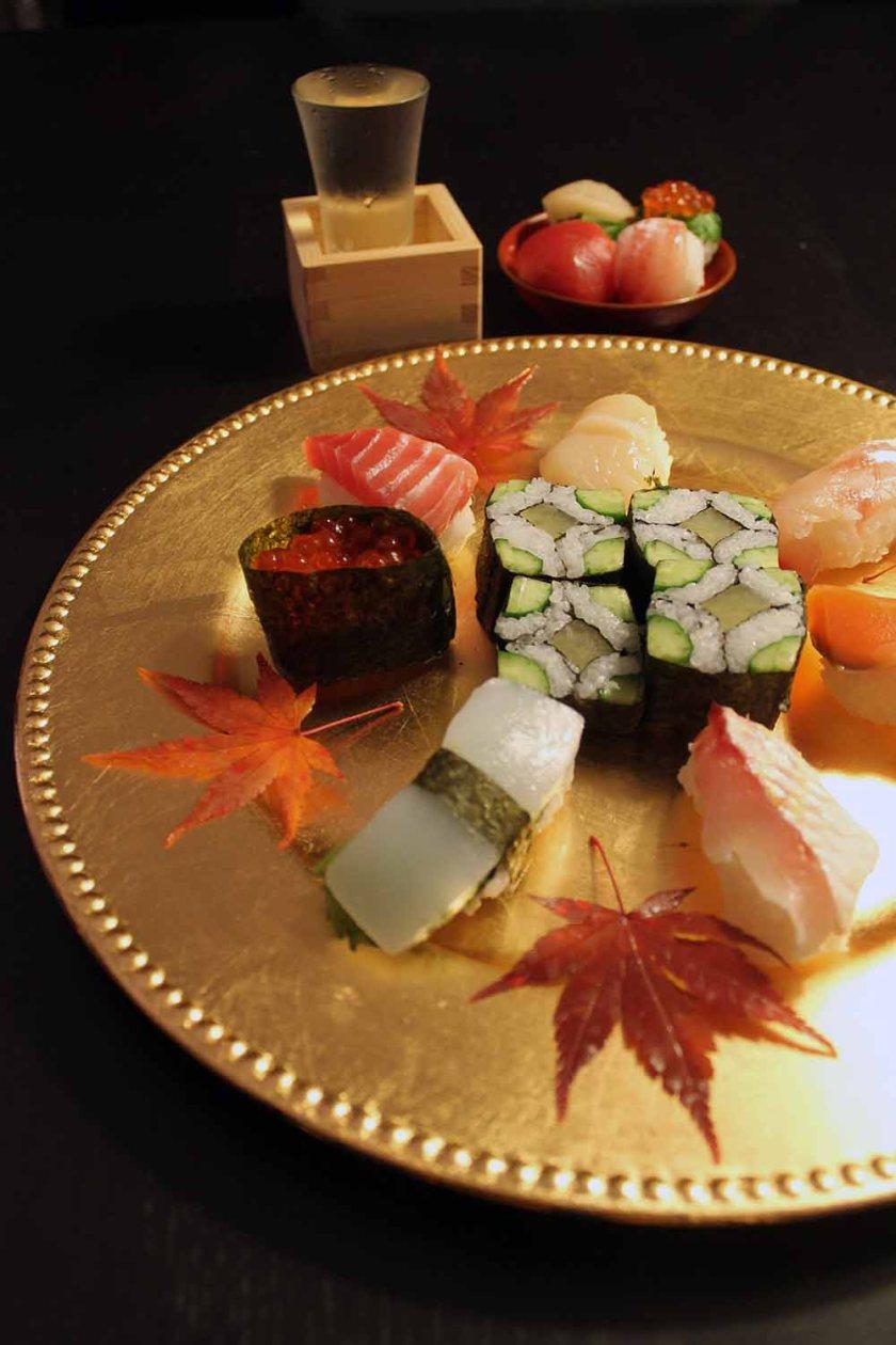 meine selbstgemachte Sushi-Platte