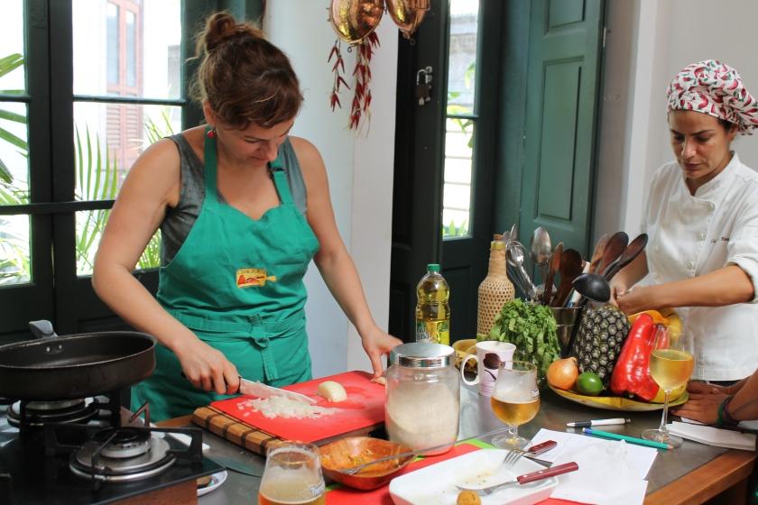 dazwischen auch mal kochen bei Cooking in Rio!