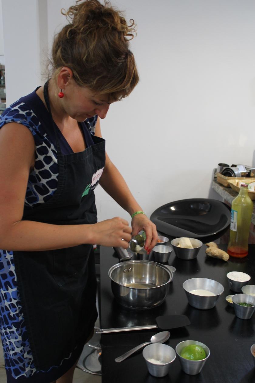 zwischendurch koche ich auch mal selber in der Receiteria in Sao Paulo