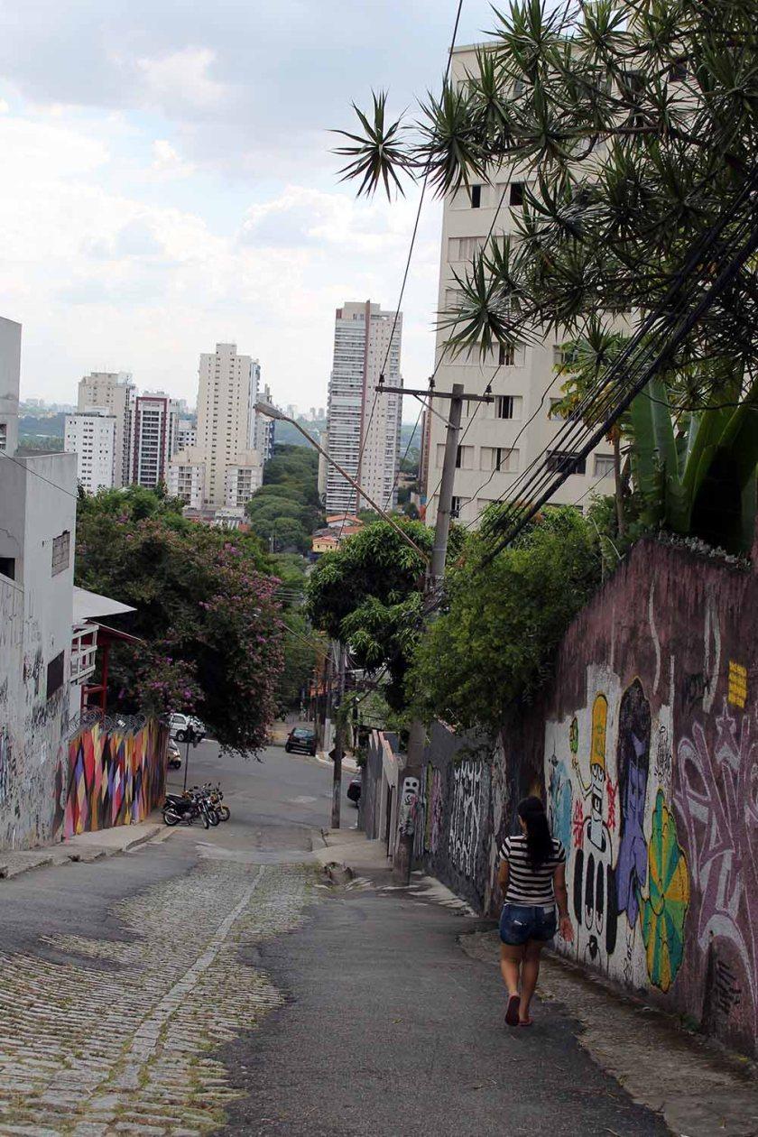 eine hügelige Stadt, dieses Sao Paulo!