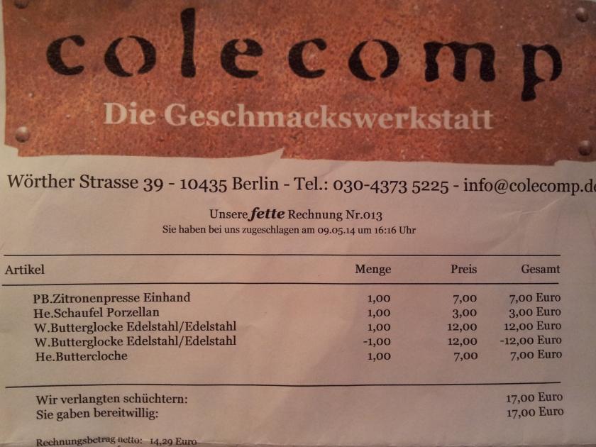 Eine Rechnung auf Berlinerisch
