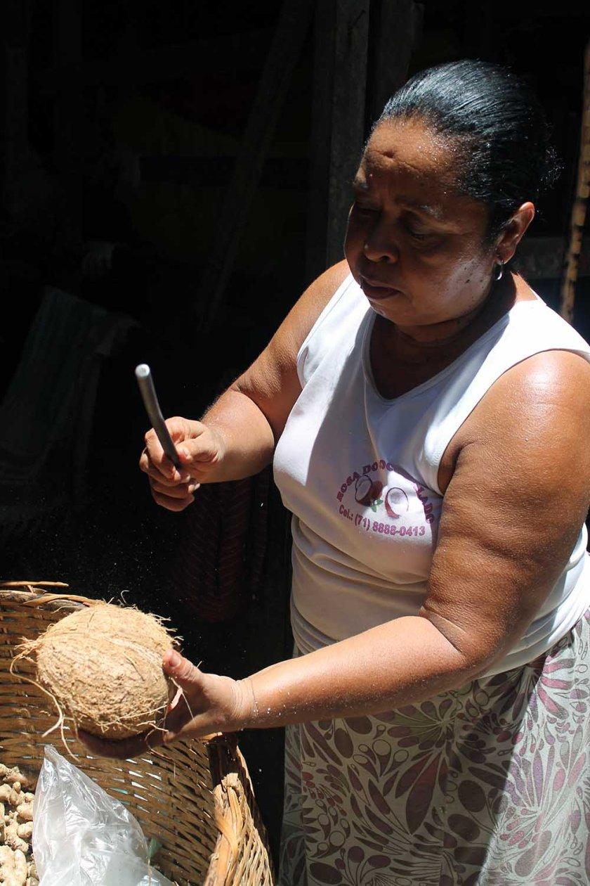 Kokosnuss schlagen...