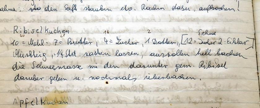 und hier der handschriftliche Beweis