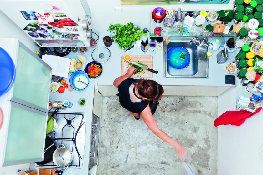 Kochaction in der Küche von Kariin