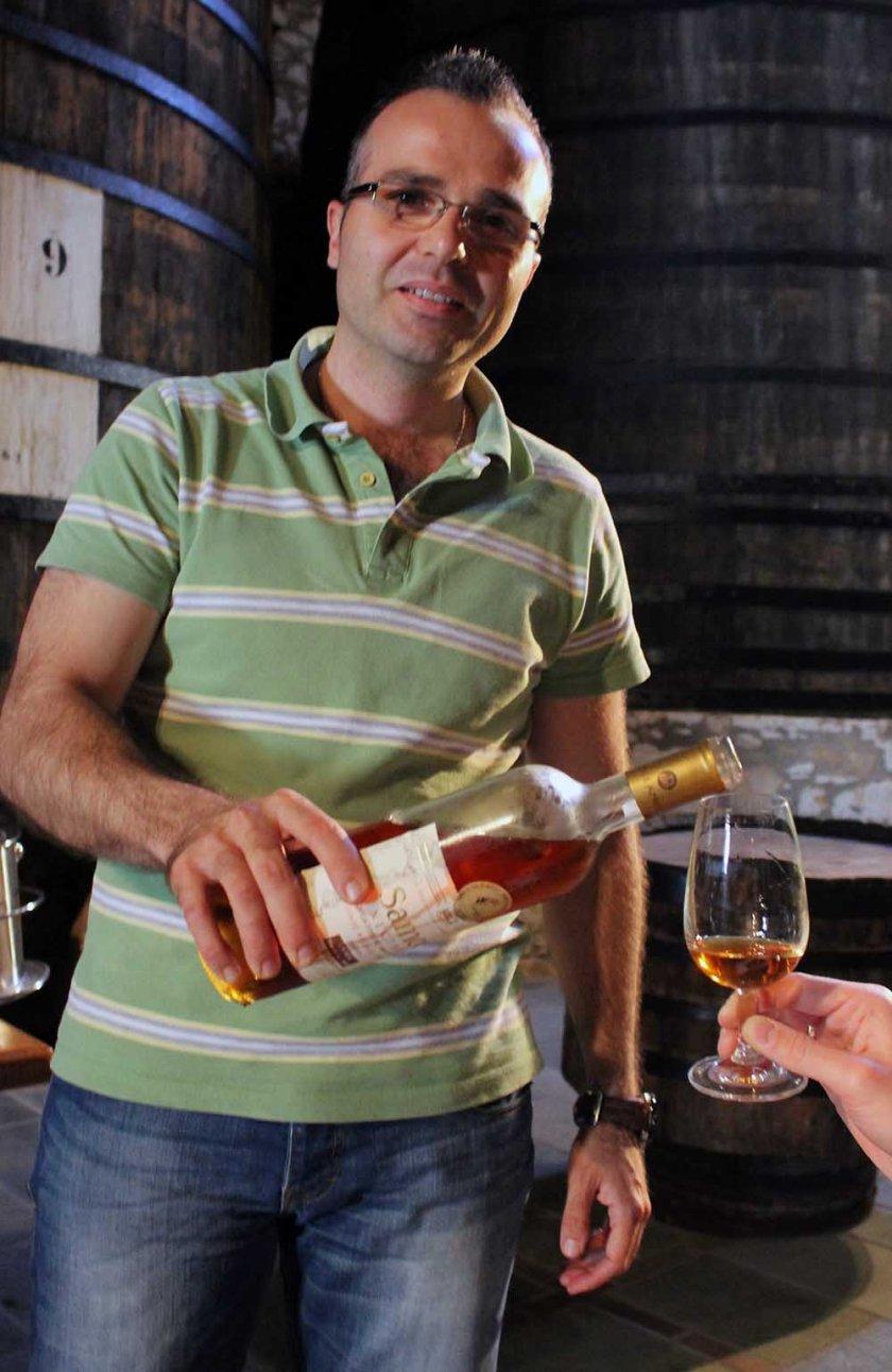 Weinverkostung in der Weinkooperatiion auf Samos