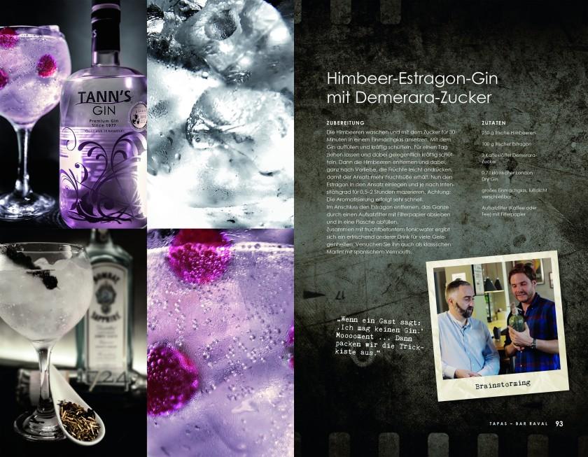 Rezept Himbeer-Estragon-Gin