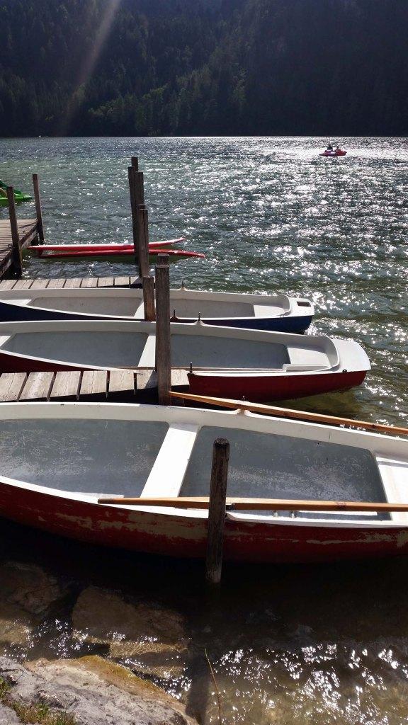 mit dem Boot raus auf den See
