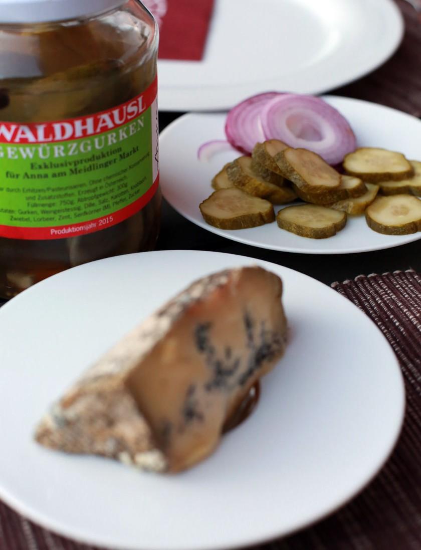 Jumi-Käse und Annas Gurkerln