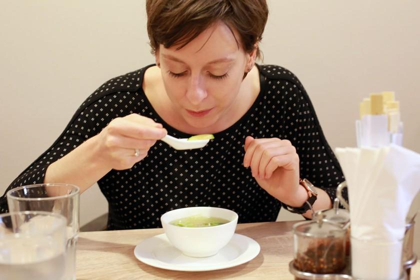 Sarahs perfektes Suppenschlürfen