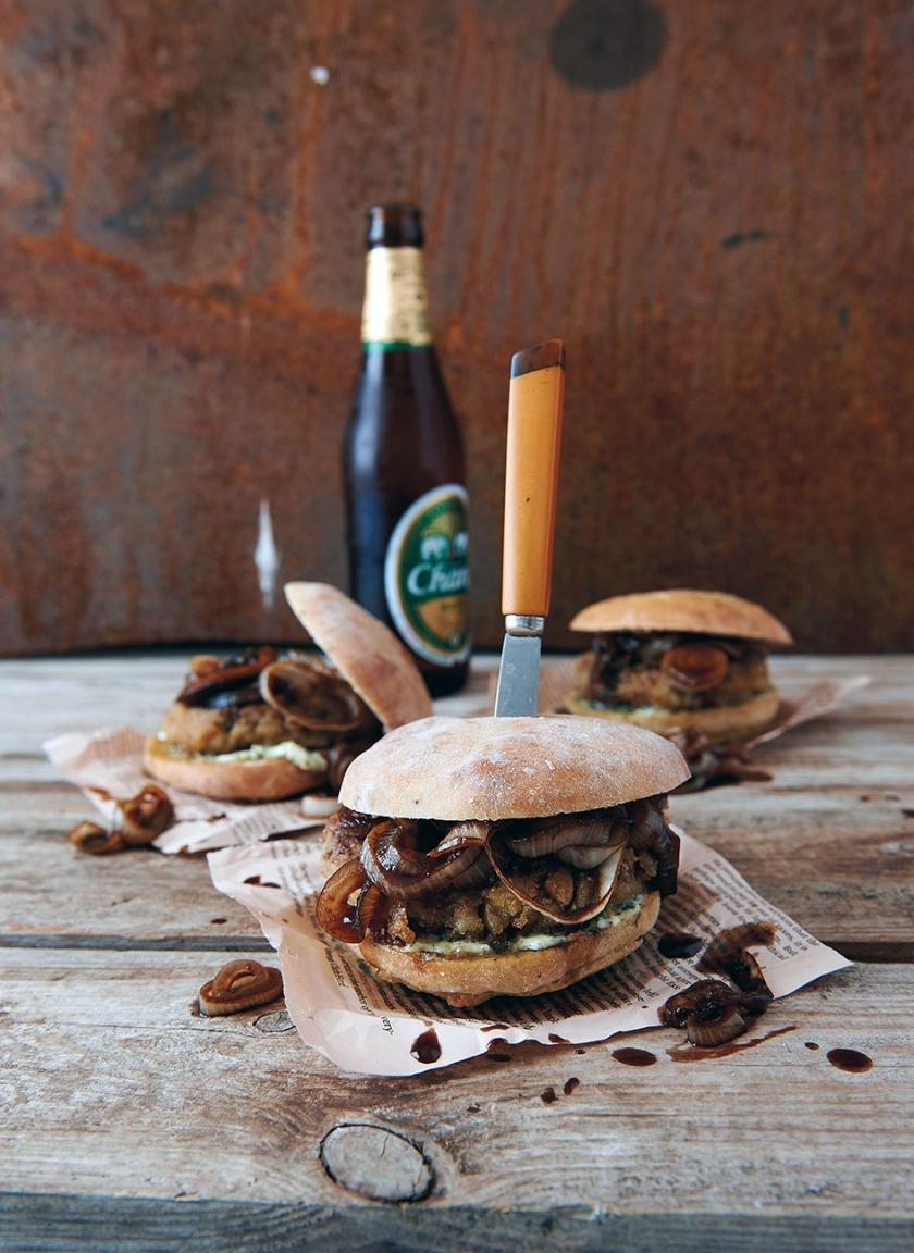 S 74 Auberginen Burger